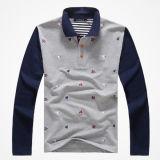 Custom Buttons Pique Plain Long Sleeve Polo Shirt