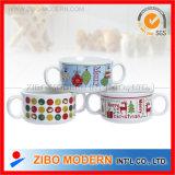 20oz Ceramic Soup Mug with Two Handle