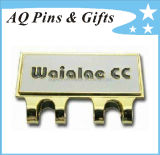 Factory Price Hard Enamel Cap Clip with Golf Ball Marker (golf-04)