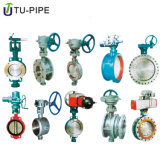 Pneumatic Actuator Wafer Type Single Double Flanged Cast Iron Butterfly Valve Stainless Steel