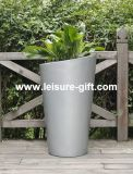 Tapered Round Fiberglass Flower Planter (FO-289)