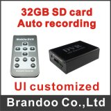 New Mini DVR Support SD Card Real-Time, HD Mini 1 Channel DVR Board MPEG-4 Video Compression Color Black