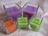 Muti-Colored Glass Jar Candle in Large Bulks