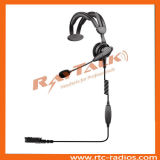 Over The Head Single Earphone Headset with Adjustable Headband and Boom Microphone