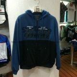 Hot Sale Men′s Zip-up Fleece Coat Clothes with Hood Fw-8618