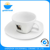 Customized Logo 225ml/5.5′′ Porcelain Coffee Cup with Saucer
