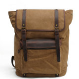 Wholesale UK Design Canvas Day Pack Leather Student Shoulder Bag China Supplier (RS-2200-P)