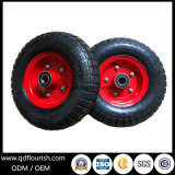 Trolley Rubber Wheels 3.50-4 10′′ Inflatable Wheelbarrow Air Wheels