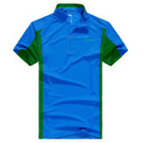 Wholesale OEM Casual Dry Fit Sport Zip up Polo Shirt