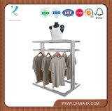Clothing Display Gondola with Shelves & Hangrail