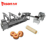 Automatic Double Lane Biscuit Sandwich Making Machine with on Edge Packing Machine