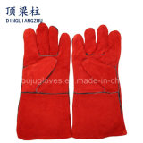 14 Inch Red Hand Safety Leather Welding Gloves in China