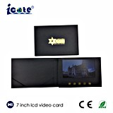 Very Nice 7 Inch Video Greeting Brochure/LCD Video Brochure/Video Business Card/Gift