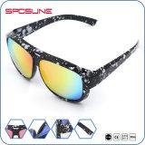 Matte Black Frame Iridium Blue Sport Sunglasses Anti UV 400