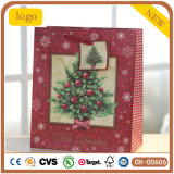 Christmas Red Tree Patten Paper Bag