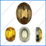 13*18mm Smoked Topaz Oval Cabochon Cushion Cut Fancy Crystal Stone Cubic Fancy Stone for Jewelry Making