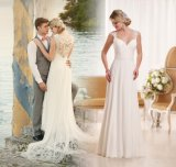 Custom Bridal Formal Gowns Lace Chiffon Beach Wedding Dress Yae39