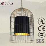 Satinless Steel Black Cage Pendant Lamp for Hotel Project