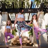Print Kids Warm Thick Children Yoga Leggings for Sports