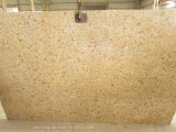 High Polished Rust Golden Yellow Granite Slab for Countertop / Tile