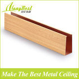 Fireproof Wooden Color Aluminum False Ceiling