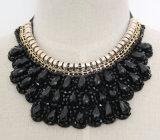 Handmade Bead Crystal Fashion Costume Alloy Pendant Necklace Jewelry (JE0001)