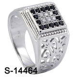 Factory Wholesale Cheap Price 925 Silver Micro Pave CZ Men Rings.