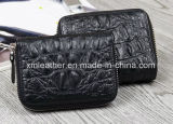 Fashion Leather Card Wallet Zipper ID Card Holder