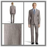 Tailor Made Men′s Light Grey Slim Fit Business Suit Formal Suit (SUIT6210)