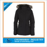Women′s Parka Goose Down Jacket with Fur on The Hood