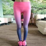 Women Yoga Compression Tights of Gradient Color Yoga Wear