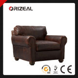 Orizeal Lancaster Genuine Leather Chair (OZ-LS-2030)