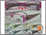 Fashion Unisex Plastic Reading Glasses with Hot Stamp Transfer (MRP21272)