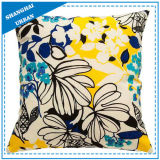 Home Decoration Colorful Flowers Printed Throw Pillow
