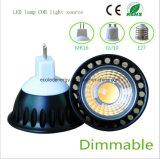 Dimmable 5W MR16 Black COB LED Light