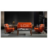 High-End Leisure Sofa with Greasedleather Upholstery