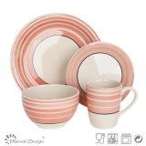 Hand Painting Round Circle 16PCS Dinnerware Set