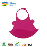 Waterproof Silicone Bibs Easily Wipes Clean Comfortable for Baby/Infant