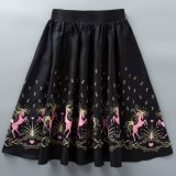Wholesale Latest MID-Calf Elastic Waist Sublimation Printed Women Umbrella Skirts