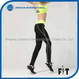 Women Compression Sports Leggings with Customized Color Side Stripe