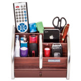 Wooden Holder for Pen and Name Card and Remote Control