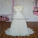 Elegant Lace Sleeveless Latest Gown Design Wedding Dress