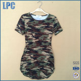 Women Summer Short Sleeve Military Camouflage Party Mini Dress