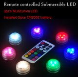 Portable Plastic Waterproof Round Multi Color Light IR Remote Control LED Lamp