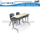 Hot Sale Double Seat Classroom Desk and Chair Set (HF-07909)