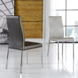 Modern Leather Metal Leisure Chair Restaurant Furniture