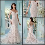 Lace Bridal Wedding Dress Long Sleeves Wedding Ball Gowns Ld1167