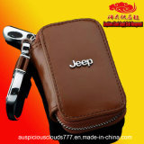 Eco-Friendly Jeep Logo Genuine Leather Key Case