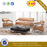 Metal Legs Leather Combination Sofa for Office (HX-CS052)