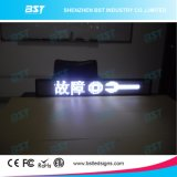 P6 White Programmable Taxi Rear Window Scrolling LED Sign